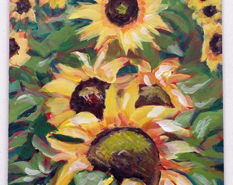 Abstract Sunflowers, Home Decor