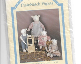 Plain Stitch Piglets.