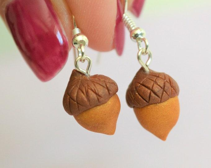 Acorn earrings Dangle earrings Fall earrings Gift for her Fall jewelry Autumn earrings Drop earrings Acorn jewelry Thanksgiving jewelry