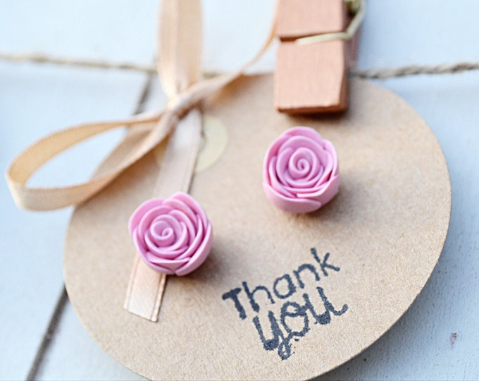 Beautiful handmade earrings - Special gift for her - Handmade rose stud earrings- I love you gift- Bridal shower- Florist gift- Love flowers