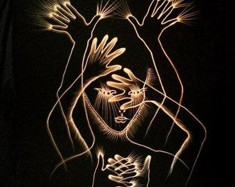 Strength Tarot Card Gold Art Print