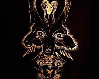 The Magician Tarot Card Gold Art Print