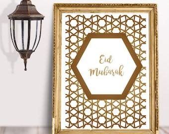 Eid Mubarak DIGITAL PRINT