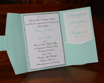Pocket Fold Wedding Invite