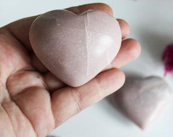 Pink Opal Heart Puffy