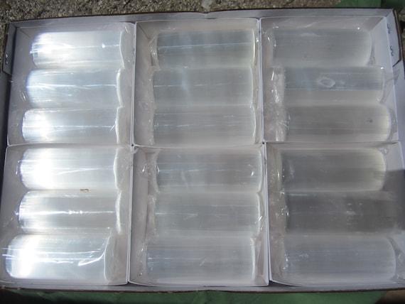 SELENITE HARMONIZER Cylinder Lot of (18) Polished Morocco