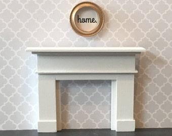 Dollhouse Fireplace, Black, White, Dark Gray or Light Gray Handmade, Miniature Fireplace, Doll House Fireplace, 1:12 Scale, Modern Miniature