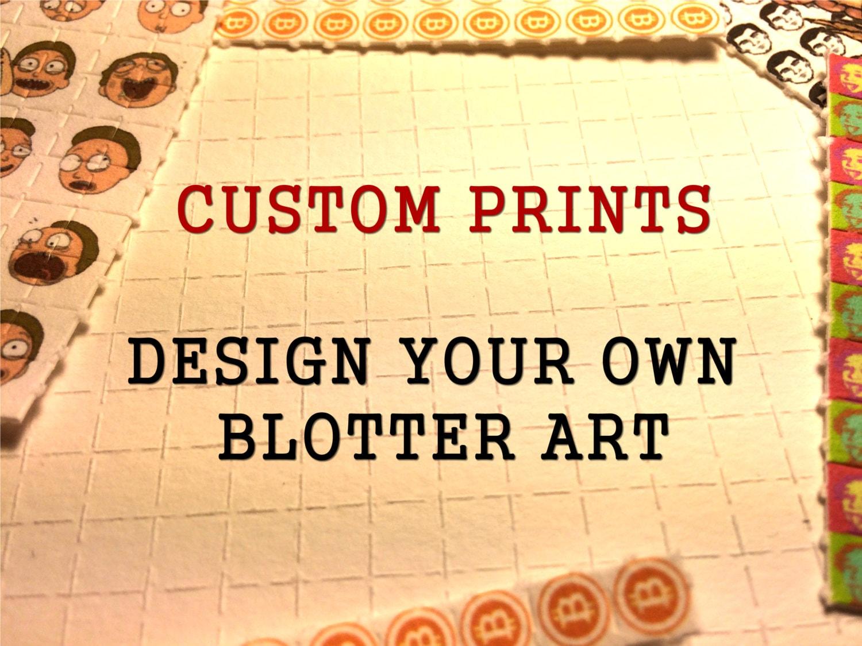 Custom Printed Blotter Art Your Design on Perforated Blotter | Etsy