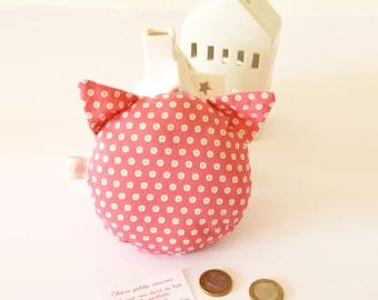 Coussin pour la petite souris, petites fleurs roses, le chat de la petite souris, petite souris, chat, cadeau enfant, rose, petite fille