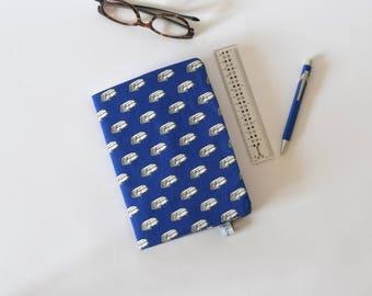 Protège-carnet de santé, carnet de santé en tissu, carnet A5, bleu, combi VW, cadeau de naissance, protège cahier A5, accessoire bureau