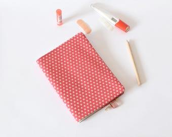 Protège-carnet de santé, carnet de santé en tissu, carnet A5, rose, fleurs, cadeau de naissance, protège cahier A5, accessoire bureau