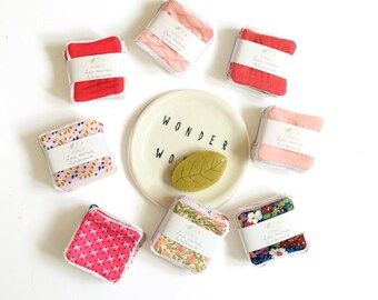 Pack of 6 minis reusable wipes