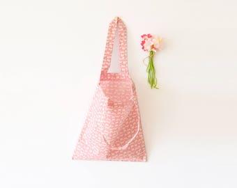 Mini tote bag, sac rose, lapins, tote bag, rose, lapin, sac fille, mini sac, cadeaux pour elle, enfant, sac poussette, fête des mères
