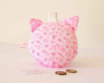 Coussin pour la petite souris, rose fluo , le chat de la petite souris, petite souris, dent de lait, chat, cadeau enfant, rose, fluo
