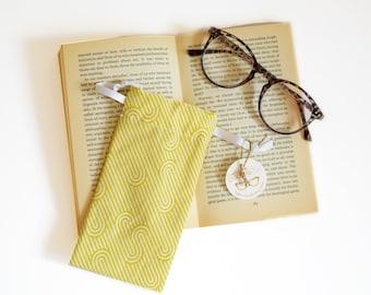 Yellow sunglasses case