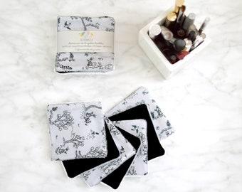 7 reusable make up pads black and white rabbit