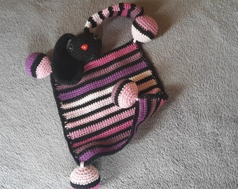 Multicolored crochet rabbit - Amigurumi
