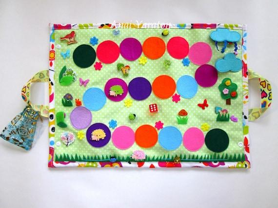 Activity board Busy blanket Baby travel toy Fine motor skills Sensory board Fidget blanket