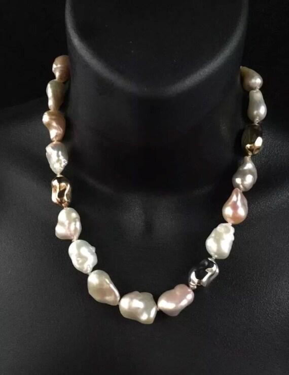 "7.5/"" 12-13mm Australian South Sea White Pearl Genuine Leather Cord Bracelet"