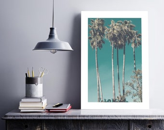 A3 Vintage Palm Poster, Home Decor, Wall Art
