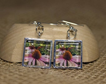 Beautifully Handcrafted, Pacific Northwest, Nature, Monarch Butterfly, Original Wearable Art, Photo Earrings
