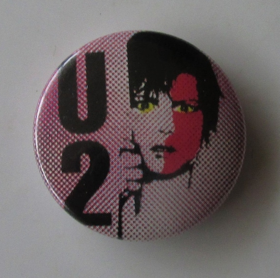 U2 Boy Large Sized Vintage Metal Pin Badge From The 1990/'s Bono Edge Rock Music Memorabilia