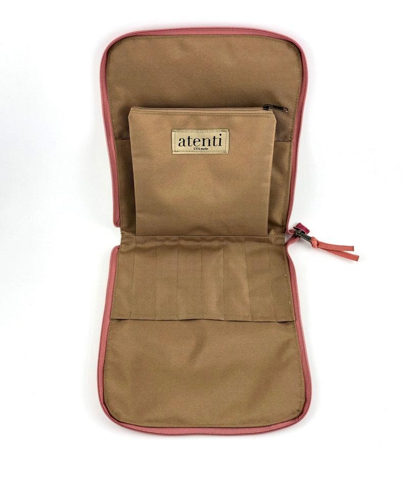 Atenti Combo Pouch Flamingo Print Needle Case Flamingo Jacquard Fabric Zipper Needle Case Combo Case for DPN /& Interchangeable Needle