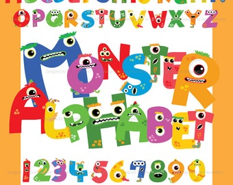 monster alphabet etsy