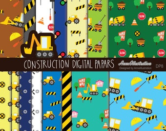 Easter Boys Digital Papers Blue Red Orange Yellow Green Stripes /& Polka Dots Digital Paper Pack Instant Download