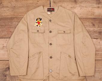 """af58e1642c40a Mens Vintage 10-X 1950s Light Tan Shooting Hunting Jacket USA Large 42"""" XR  9494"""