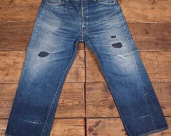 1b9032c3 Levis True Vintage 501 Denim Jeans. Big E One Side Tab. Pre 1955. Mens 40 x  32. HW31