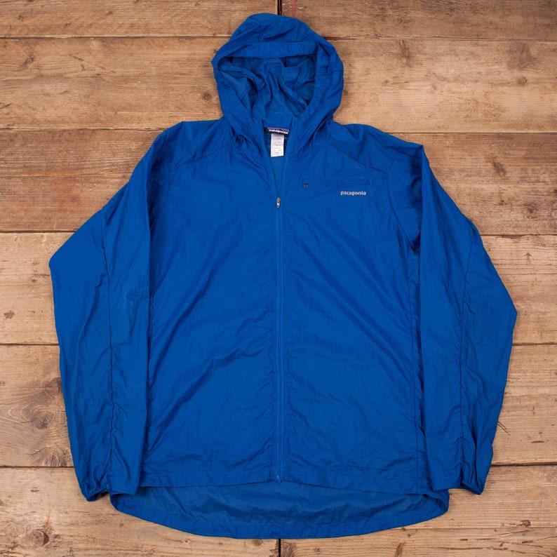 Mens Vintage Patagonia Blue Lightweight Hooded Windbreaker image 0
