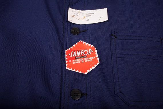 Mens Vintage Deadstock NOS Blue French Workwear C… - image 3