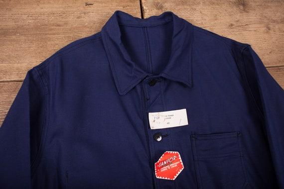 Mens Vintage Deadstock NOS Blue French Workwear C… - image 2