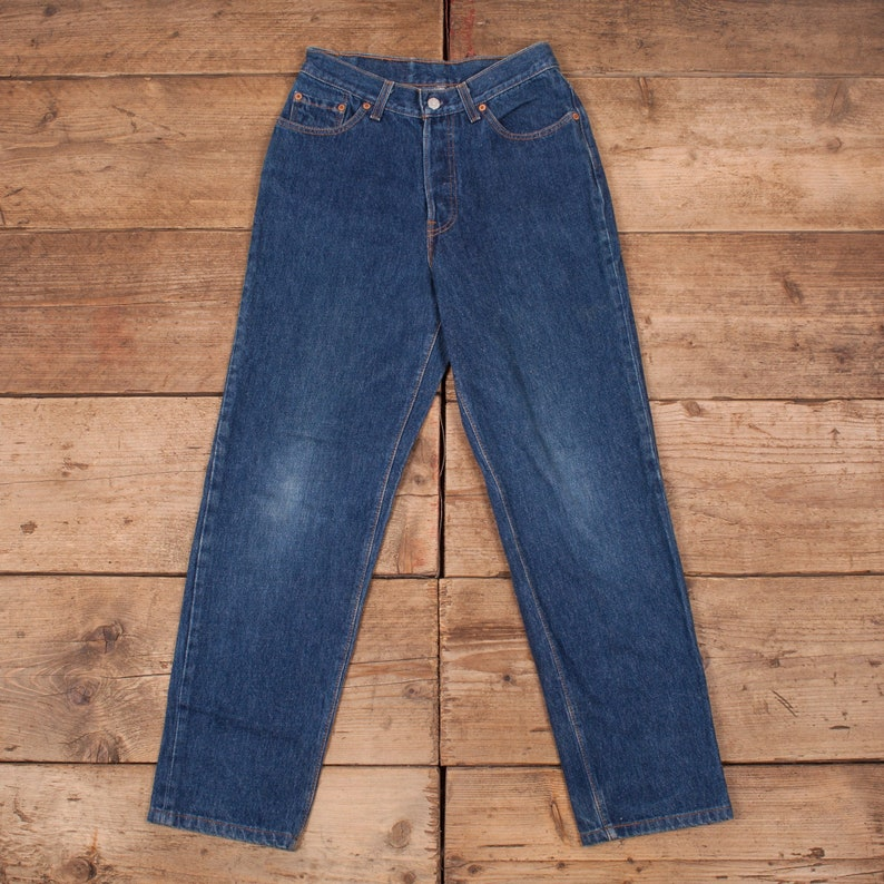 Womens Vintage Levis Red Tab 17501 0115 90s Denim Jeans USA image 0