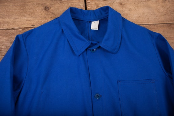 Mens Vintage Deadstock NOS Blue French Workwear C… - image 2