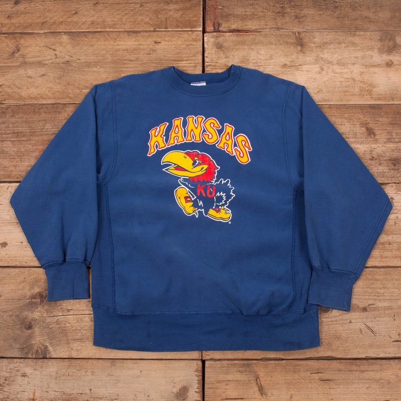 ad1b8face020 Mens Vintage Champion 90s Blue Reverse Weave Sweatshirt Jumper