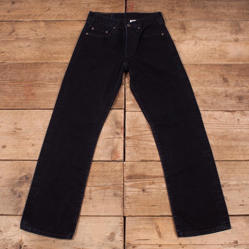 Womens Vintage Levis Red Tab 501 Blue Irregular Denim Jeans image 0