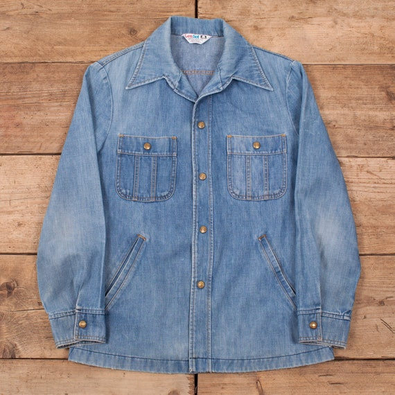 Mens's Vintage Lee Set 70s Blue Denim Workwear Hip