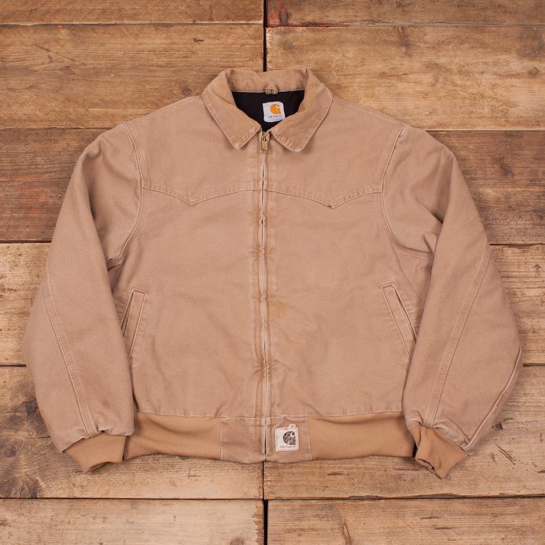0d6e92d7 Mens Vintage Carhartt Beige Quilt Lined Workwear Chore Jacket | Etsy  carhartt workwear norway