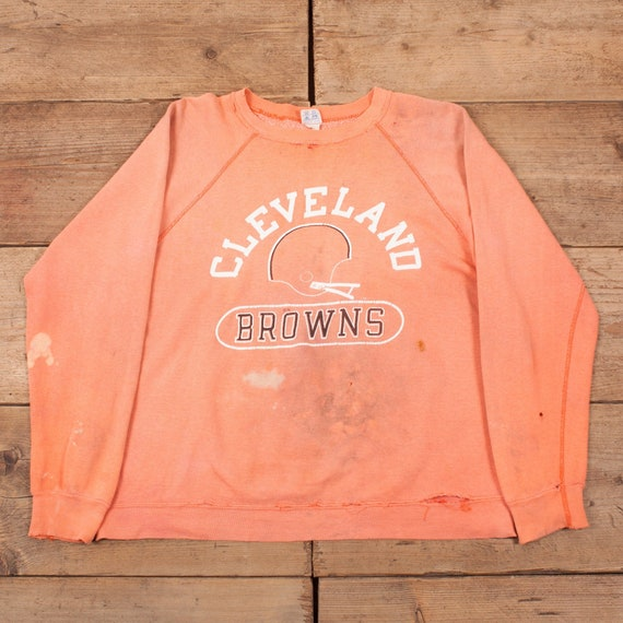 Mens Vintage 80's Champion Cleveland Browns Distre