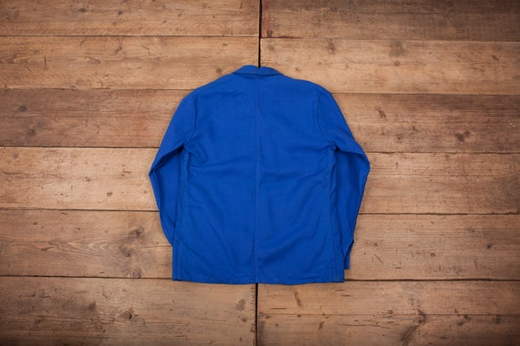 Mens Vintage Deadstock NOS Blue French Workwear C… - image 7