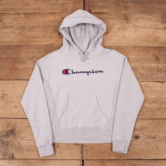 Mens Vintage Champion Reverse Weave Spell Out Hood