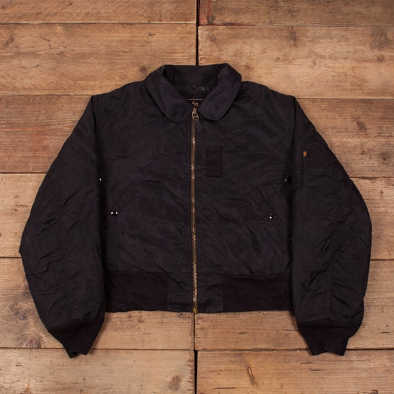 Mens Vintage Alpha Industries Black B-15 Flight Bo