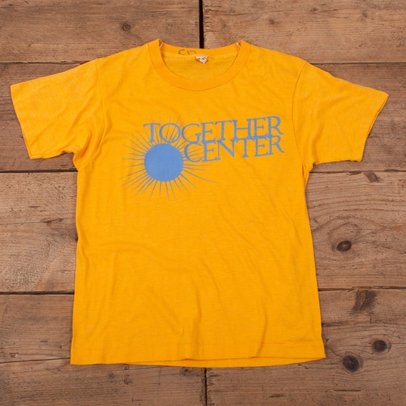 Women's Vintage 80s Together Centre Yellow Single