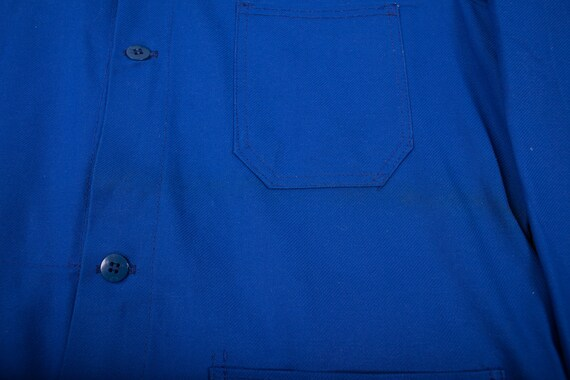 Mens Vintage Deadstock NOS Blue French Workwear C… - image 6