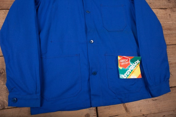 Mens Vintage Deadstock NOS Blue French Workwear C… - image 3