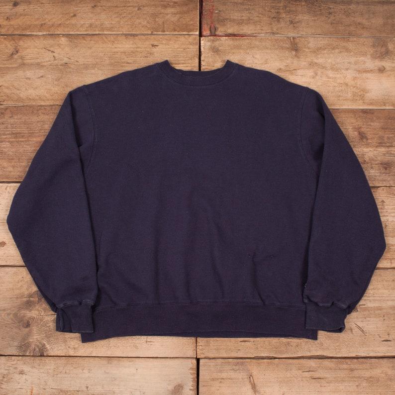 0cd710862042 Mens Vintage Champion Navy Blue Crew Neck Sweatshirt Jumper