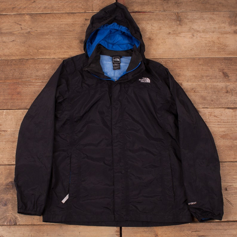 Boys Vintage North Face Black HyVent Lightweight Raincoat image 0
