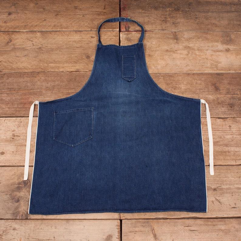 Unisex 1950s Selvedge Denim Engineer Artist Workwear Apron 30 image 0